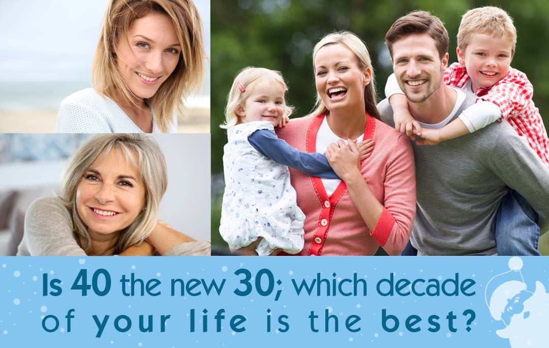 Is 40 the new 30; which decade of your life is the best?