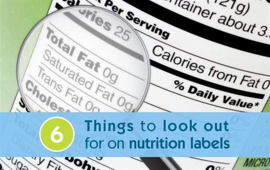 6 Things to look out for on nutrition labels