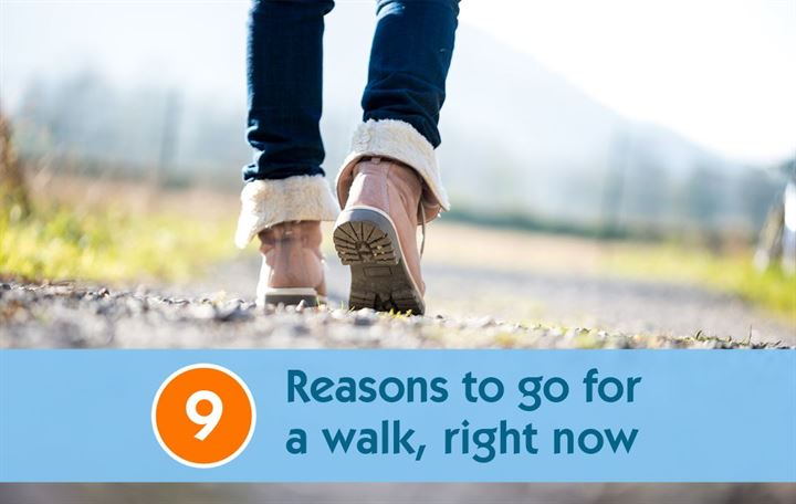 9 Reasons to go for a walk, right now