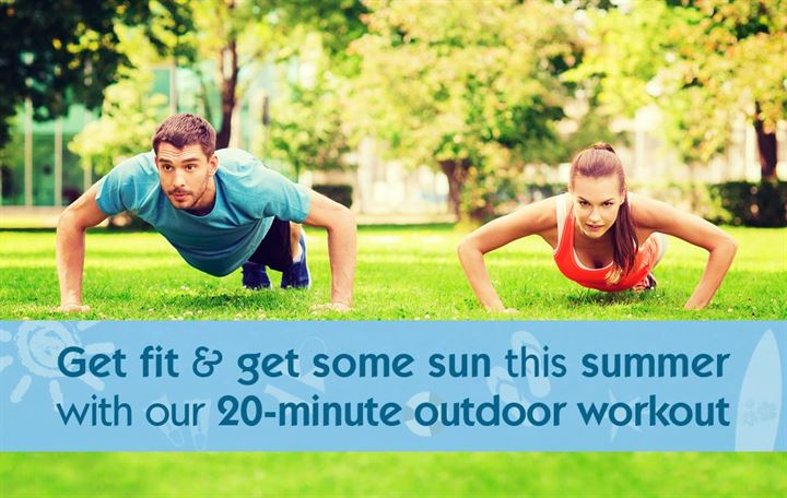 Get fit and get some sun this summer with our 20-minute outdoor workout