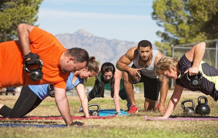 Try something new – fitness bootcamp
