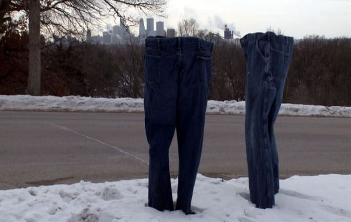 Temperatures in Minnesota are so freezing, you can do this with your jeans!