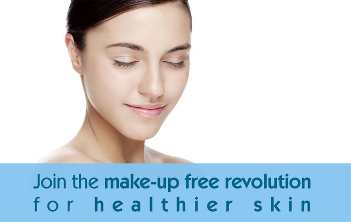 Join the make-up-free revolution for healthier skin