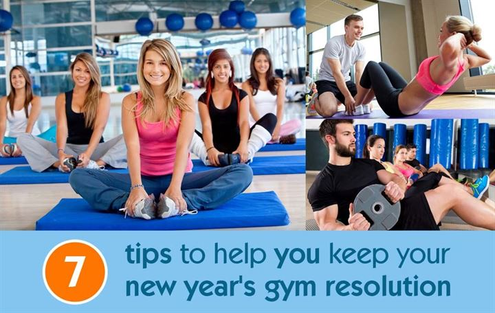 7 Tips to help you keep your new year's gym resolution