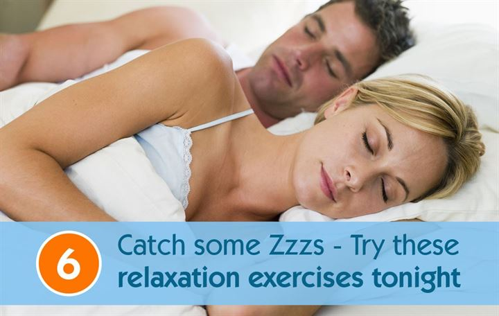 Catch some Zzzs - Try these 6 relaxation exercises tonight