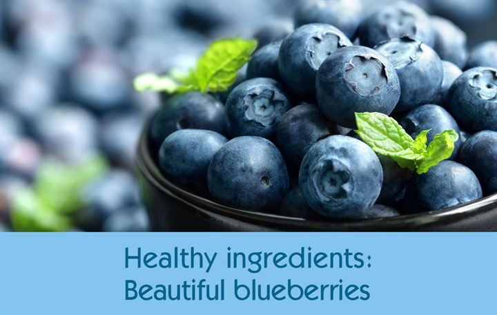 Healthy ingredients: Beautiful blueberries
