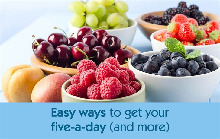 Easy ways to get your five-a-day (and more)
