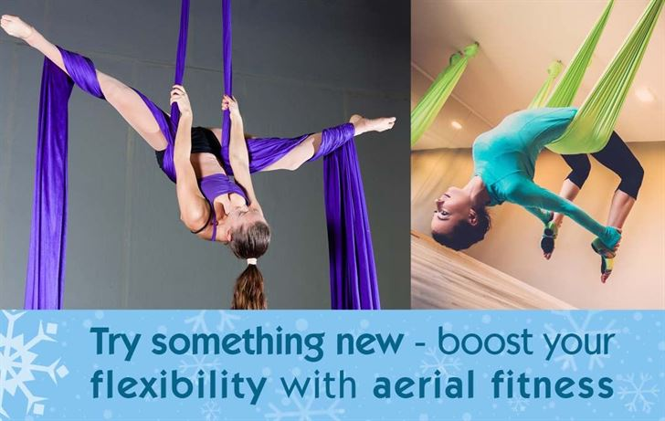 Try something new - Boost your flexibility with aerial fitness